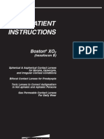 Boston Xo 2 Patient Instructions