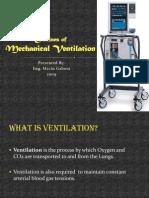 Outlines of Mechanical Ventilation