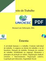 Direito Do Trabalho - 30 Horas - UNOESC