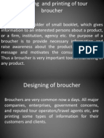 Designing and Printing of Tour Broucher