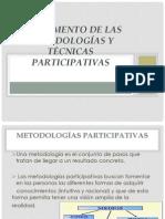 Fundamento de las metodologías y técnicas participativas
