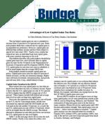 Advantages of Low Capital Gains Tax Rates