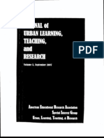 Cramer, Gudwin, Salazar. (2007) Joural of Urban Learning, Teaching, Research