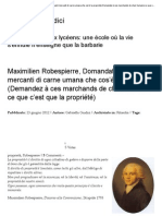 Robespierre Maximilien - Domandate a questi mercanti di carne umana che cos'è la proprietà