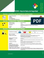 Hoja seguridad Acido Cítrico - ACHS