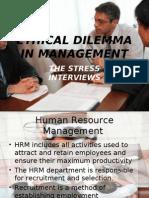 stress interviews-principles of management.ppt
