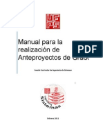 Manual Procedimiento Anteproyecto Ingsistemas