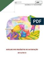 INQUERITOS DE SATISFAÇAO COM TRATAMENTO DADOS FINAL 2012-13