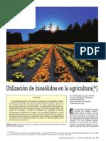 Utilización de biosólidos en la agricultura