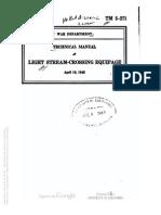 TM 5-271 LIGHT STREAM-CROSSING EQUIPAGE  1943