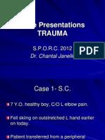 Case Presentations Trauma C.janelle SPORC2012
