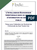 L Intelligence Economique Territoriale Dans Un Centre d Information Du Service Public