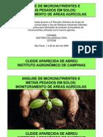 análise de micro e metais em solos monitoramento de áreas agrícolas