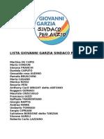 Lista Giovanni Garzia Sindaco
