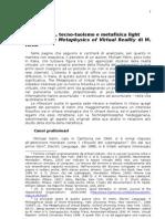 NCyberspazio, Tecno-taoismo e Metafisica Light Rossi Diego