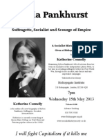 Sylvia Pankhurst Meeting