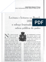 Leitura e leitores do Brasil, 1820-1822 - Lúcia Bastos P. Neves