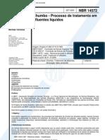 NBR 14572 - 2000 - Chumbo - Processo de Tratamento Em Efluentes Liquidos
