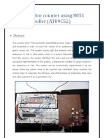 Digital Visitor Counter Using 8051 Microcontroller