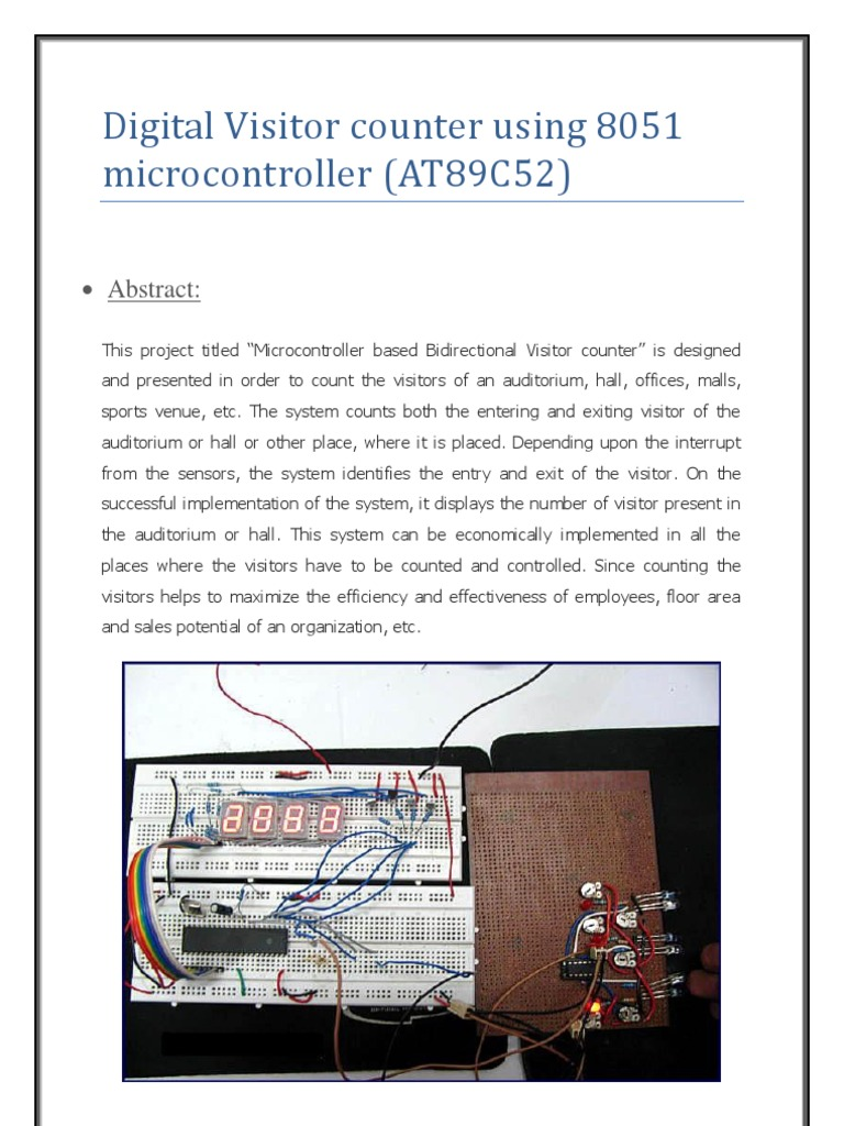 8051 Microcontroller Based Frequency Counter Auto Electrical Color Sensor Circuit1 Circuit With At89s52 Adc0808 Digital Visitor Using