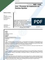 NBR 14569 - 2000 - Zinco - Processo de Tratamento Em Efluentes Liquidos