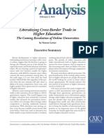 Liberalizing Cross-Border Trade in Higher Education