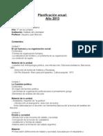 Planificacion Politica y Ciudadania 2013