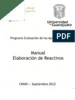 Manual Elaboracion de Reactivos 2012