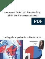 Gobierno de Arturo Alessandri y El Fin Del