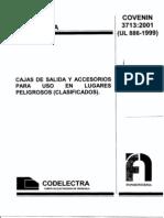 Norma Covenin 3713 01 UL 886 1999 Cajas de Salida y Accesorios Para Uso en Lugares Peligrosos o Clasificados