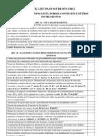 INSTRUÇÃO NORTMATIVA 015 DE 07 DE NOVEWMBRO DE 2012