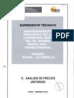 11- Analisis de Precios Unitarios Mantenimiento Periodico