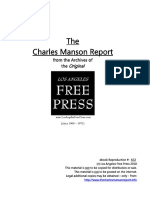 Manson Freep | Charles Manson | Susan Atkins