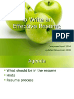 To Write an Effective Resume Tai Tran Www.taitran.com Composed