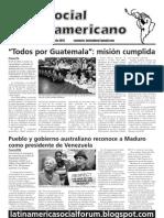 Foro Social Latinsmericano, May 2013 edition