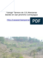 Ganga de Terreno en San Jeronimo Comayagua