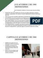 Capitulo II Acuerdo 2 de 1980