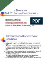BIF3203 - Part III Discrete Event Simulation (November 2012)