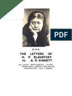 Barker, Trevor a - The Letters of HPB to AP Sinnett (Incompleto)