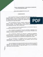 Resolucion N. 001 28-05-2012 Consejo Provincial de Seguridad y Convivencia Ciudadana de La Provincia de Napo