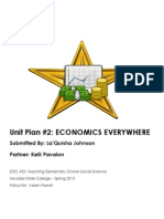 EDEL453 Spring2013 Unit2planner LaquishaJOHNSON Economics4th