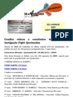Confira videos e resultados das lutas do Instigação Fight Queimadas