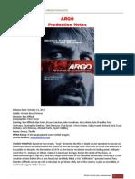 Argo Production Notes