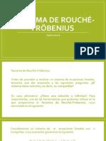 TEOREMA DE ROUCHÉ-FRÖBENIUS