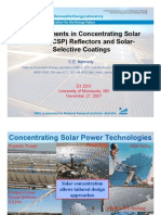 73985382 Advancements in Concentrating Solar Power CSP