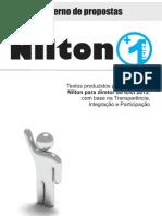 Caderno de Propostas - Campanha Nilton 1