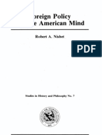 Foreign Policy and the American Mind Robert Nisbet