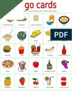 Bingo Cards Food Part1