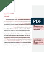 Interpret Essay, Teachers Comments