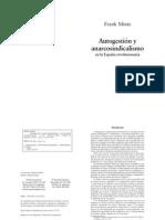 Autogestion y Anarcosindicalismo en la España Revolucionaria - Frank Mintz